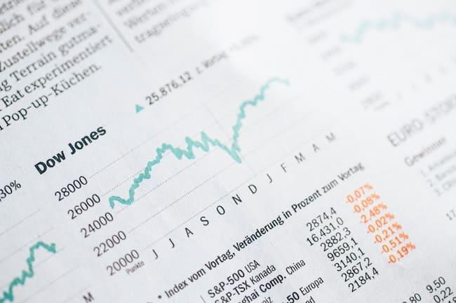 株式チャートの画像